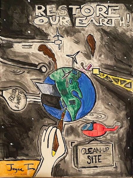 Earth's Cleanup Site by Jayce True, Grade 8