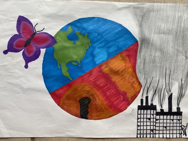 The World Before and After by Izak Ortiz-Porras, Grade 8