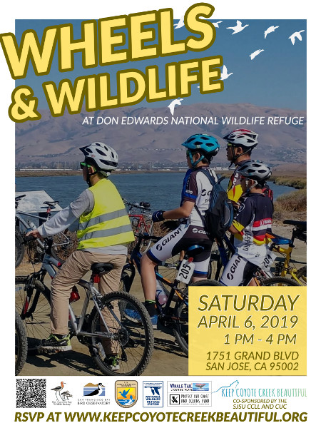 Wheels and Wildlife at the Don Edwards SF Bay National Wildlife Refuge • April 6, 2019